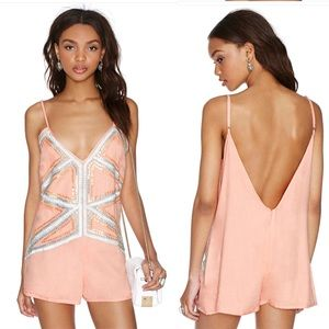 Nasty Gal Pretty Young Bling Romper